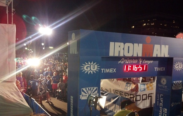 Ironman AZ finish line