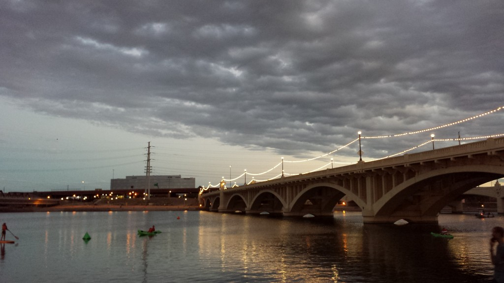 Mill Ave. Bridge at Tempe Town Lake in the morning